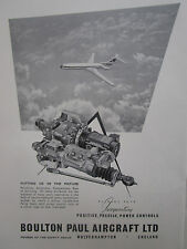 10/1961 PUB BOULTON PAUL AIRCRAFT POWER CONTROLS VICKERS VC10 ORIGINAL AD