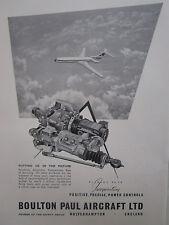 10/1961 PUB BOULTON PAUL AIRCRAFT POWER CONTROLS VICKERS VC10 ORIGINAL AD