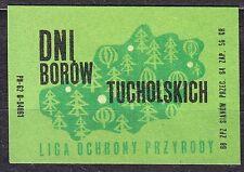 POLAND 1968 Matchbox Label - Cat.Z#858 V, Days - Tucholskie Forests.
