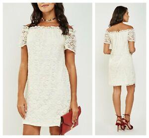 NEW Summer Boho Romantic Lace Dress UK 8-16 Off white Evening Wedding Maternity