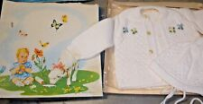 Vintage Renzo white infant sweater & hat in original box 8