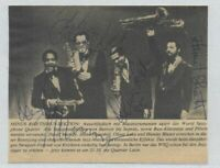 VINTAGE AUTOGRAPH MAGAZINE PHOTORAPH WORLD SAXOPHONE QUARTET VERY RARE JAZZ