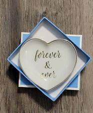 Draper James Forever & Ever Trinket Tray White Ceramic New - small mark on box