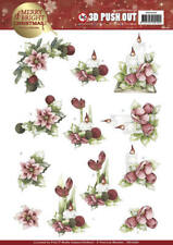 PRECIOUS MARIEKE 3D PUSH OUT DECOUPAGE FOR CARDS & CRAFTS - CANDLES IN RED