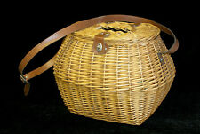 Hand Made Woven Wicker Trout Creel Fly Fishing Basket Fish Fisherman