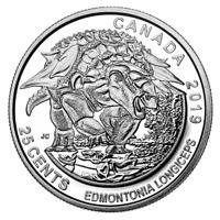 🇨🇦 2019 Special CANADA 25 Cents Coin Quarter, DINOSAURS, Edmontonia, UNC, 2019