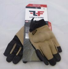 LINE OF FIRE RECON TOUCH SCREEN GLOVES COMBAT HARD KNUCKLE COYOTE BROWN , SIZE S