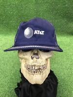 Vintage AT&T Telecom Telephone Company Snapback Hat Cap Navy Blue USA