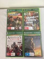 XBOX 360 Classics 4 Games Halo 3, Assassins Creed 2 & More Excellent condition