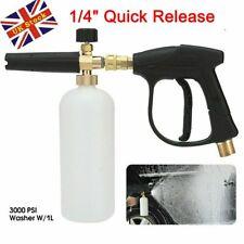 More details for high pressure washer snow foam cannon gun car wash bottle lance 1/4