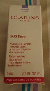 CLARINS SOS PURE REBALANCING CLAY MASK WITH ALPINE WILLOW HERB EXTRACT 5ML