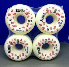 Powell Bones 100's Skateboard Wheels white wheels 52mm in shrink V5 Sidecut