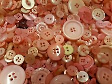 100 Pink Sewing Buttons Free Shipping