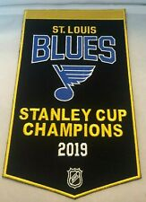"St. Louis Blues 2019 Stanley Cup Champions Embroidered Banner  14"" X 8.5"" NHL"
