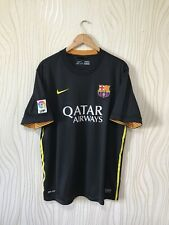 BARCELONA 2013 2014 THIRD FOOTBALL SOCCER SHIRT JERSEY NIKE 532824-013 BLACK