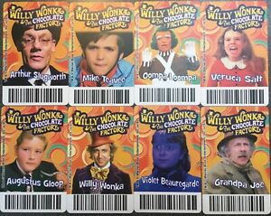 Pick / Choose your Willy Wonka & The Chocolate Factory Coin Pusher Card Timezone