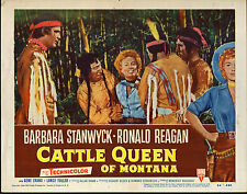 CATTLE QUEEN OF MONTANA 1954 original lobby card movie poster BARBARA STANWYCK