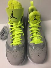 NEW IN BOX AIR JORDAN 2012 DELUXE PACK WOLF GREY LIME SIZE 13 JUMPMAN NO RESERVE