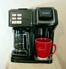 Hamilton Beach FlexBrew 2 Way, 12-Cup Coffee Maker, Black