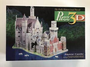 Puzz3D Alpine Castle 1000 Piece Dimensional Puzzle Super Challenging New Sealed