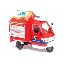 BUSCH HO SCALE 1/87 EMERGENCY PIAGGIO APE 50 3-WHEEL PICKUP | 48474