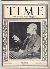 TIME Magazine  Vol. VIII, No.13 - September 27,1926 - KIPLING, The Coolidge Week