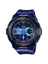 BGA-220B-2A Purple Blue Casio Baby-g Lady Watches Resin G-Lide Women Band New