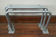 "Set of 3 Steel Metal 22"" Tall Industrial Workbench Table Legs w Levelers"