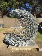 large garden art / sculpture ...  one of a kind ...  galvanized steel...