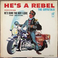 "THE CRYSTALS~ HE'S A REBEL~U.S.PRESS ORIG. PHL 4001 ""BLACK/BLUE"" 1962 ""VG+""~LP"