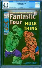 Fantastic Four 112 CGC 6.5 -- 1971 -- Hulk vs Thing battle #2014641008