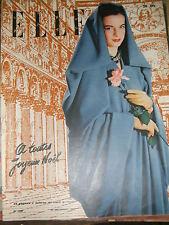 Elle N° 109 1947 Mode vintage Couture Lueha Truel Illus. Robe Jupe Tendances 40'
