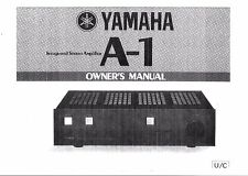 Yamaha  Bedienungsanleitung user manual owners manual  für A -1