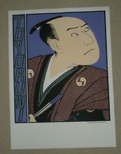 "Lithograph.RICE Paper.Large.Asian Art.30"".TOYOKUNI.NEW.Japanese Fine Art.Limited"
