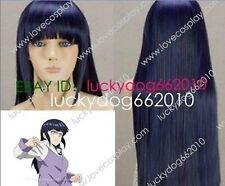 32' inchs Narutos Shippuden Hinata Hyuga Blue&Black Mixed Cosplay Wig 80cm H126