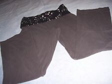 Total Girl Yoga Pants Size Xl 18 1/2 Gray With Rollover Waistband