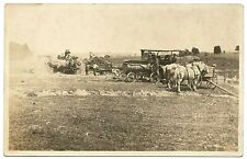 real photo Case Tractor Farm Machinery Scene Farming Agriculture antique pc RPPC