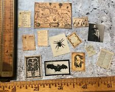 (E2) Vintage Witch Desk/Wall Clutter Dollhouse Miniature Halloween 1:12