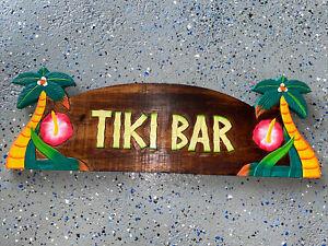 "22"" TIKI BAR PALM TREE TROPICAL WALL ART TIKI DECOR"
