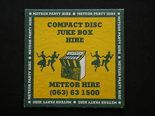 METEOR PARTY HIRE COMPACT DISC JUKE BOX HIRE 063 631500 COASTER