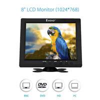 Eyoyo 8 Inch HDMI Monitor 4:3 TFT LCD Support VGA BNC AV Ypbpr Input for PC CCTV