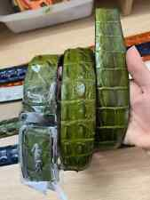 GREEN HORNBACK GENUINE ALLIGATOR CROCODILE LEATHER SKIN MEN'S BELT 3.5CM WIDTH