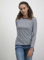 Tu Women's Navy Stripe Nautical Long Sleeve T-Shirt Top Size UK 24 BNWT RRP £10