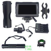 "5W 4.3"" LCD 200M DAY & Night Vision Riflescope Optical Lens DIY IR / Laser Lens"