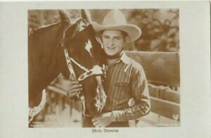 Bob Steele Horse Western Star Cowboy Original 1930s Photo Postcard Ross Verlag