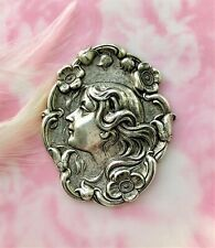 Stamping ~ Jewelry Lady Finding (C-102) Antique Silver Flower Girl Nymph Woman