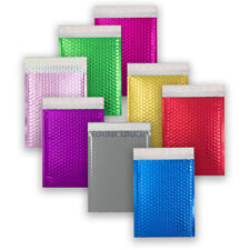 SHINY BRIGHT METALLIC GLOSS FOIL BUBBLE PADDED ENVELOPES BAGS IN ALL SIZES