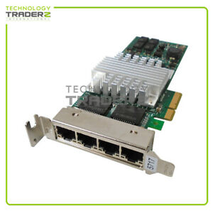 74Y2116 IBM PCI-e 4-Ports Gigabit Ethernet Adapter CPU-D61407 E39336-006 *Pulled