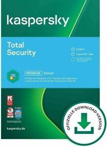 Kaspersky Total Security 2021 - 1, 3, 5 oder 10 Geräte 1 oder 2 Jahre per EMAIL
