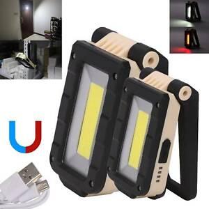LED COB KFZ Arbeitsleuchte Akku Werkstattlampe Taschenlampe Handlampe mit Magnet